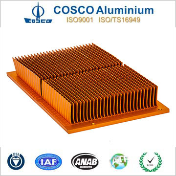 Aluminum Skive Fin Heat Sink for Electronic Devices pictures & photos
