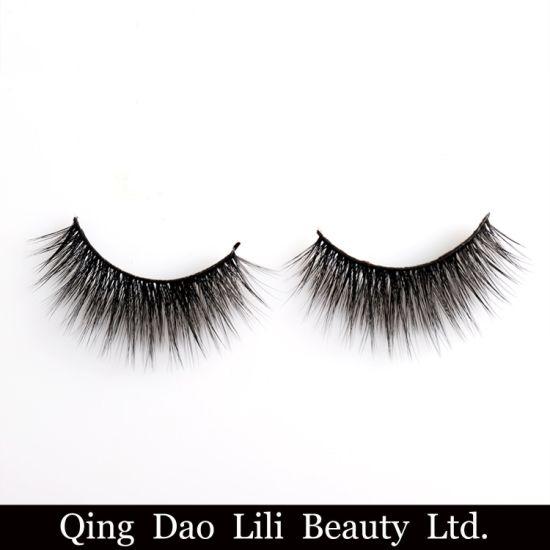 dae5c5d63e0 OEM 3D Silk False Eyelashes 100% Winged Criss-Cross 3D Silk Mink Eyelashes  Synthetic