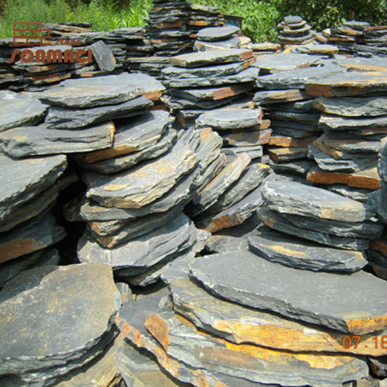 China Outdoor Landscaping Black Slate Stepping Stone China Outdoor Slate Stepping Stones Slate Stepping Stones
