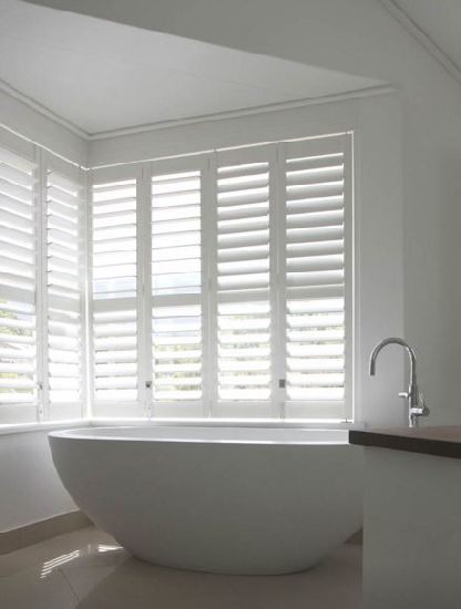 2018 Reinforced Vinyl Wrapped White PVC Plantation Shutters Made In China