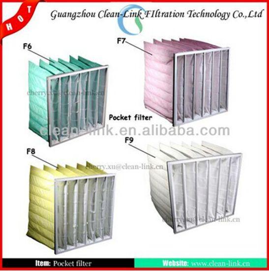 Customzied Synthetic Fiber Medium Bag Pocket Air Filter (6-8p)