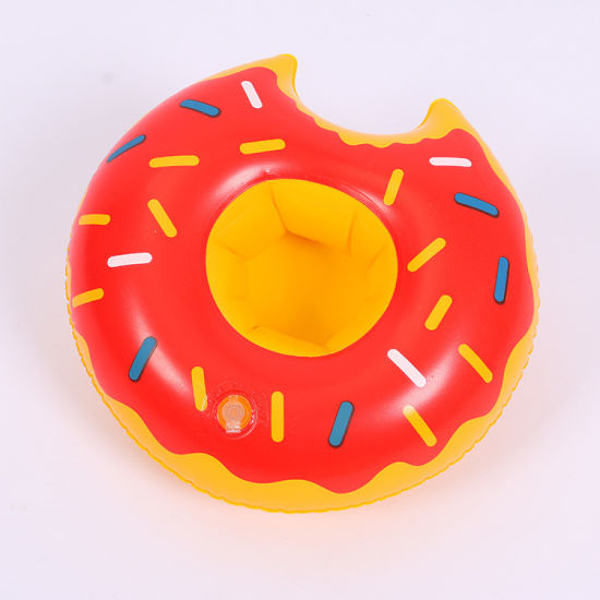 Mini Inflatable Swimming Pool Party Drink Floats Donuts Coasters Water Floating Cup Holder