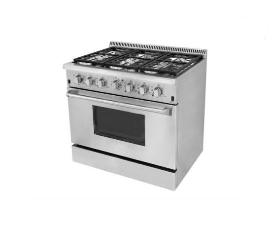 36 Inch Commercial Freestanding Gas Stove with Electric Oven