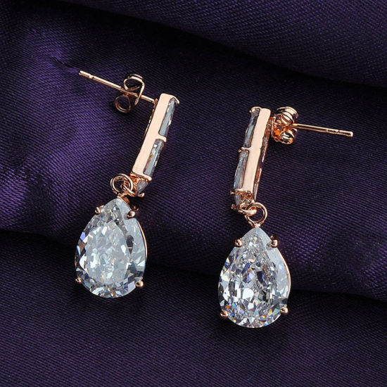 New Design Imitation Jewelry Artificial Zircon Earrings Factory Wholesale pictures & photos