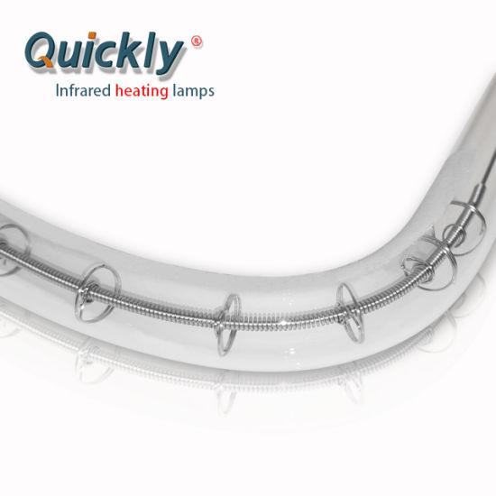 China Round Heating Lamp Short Wave Quartz Heat Halogen Lamp For