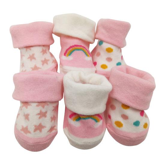 Cartoon Breathable Newborn Socks Baby Anti-Slip Soft Cotton Autumn For Infants