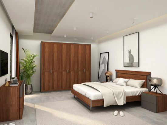 Metal Bedroom Sets 5 Pieces Set, Wood And Metal Bedroom Furniture Set