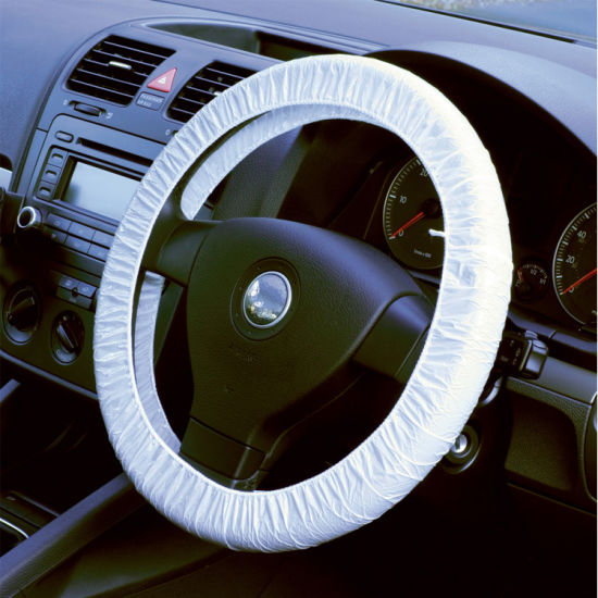 Universal Clear Elastic Plastic Disposable Steering Wheel Cover