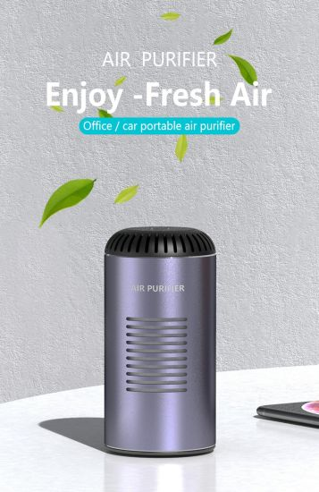 Portable Fresher Desktop Office Car Air Cleaner Purifier with HEPA Filter