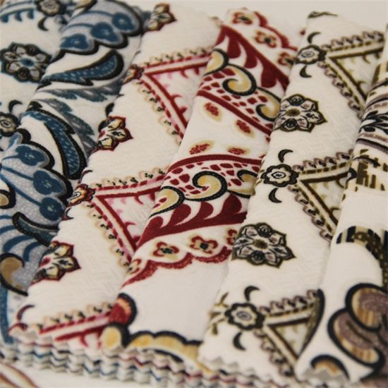 Yigao Textile 100%Polyester Flower Printed Velvet Sofa Fabric