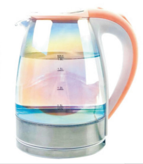 Good Quality Colorful Glass Coating 1.8L Electric Kettle Gek012