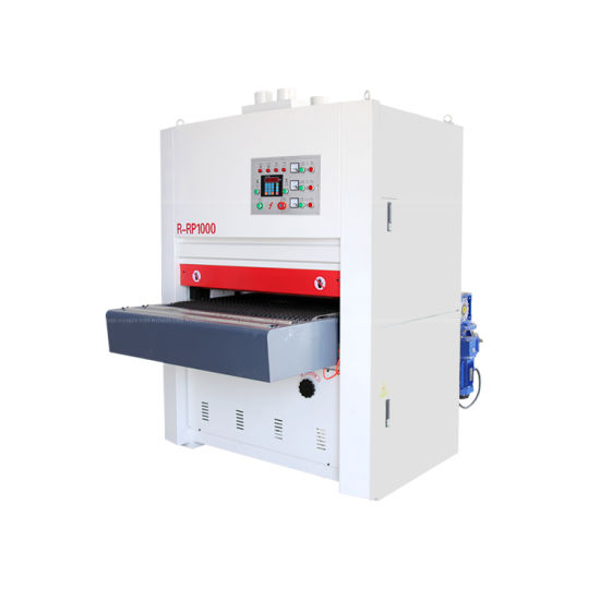 Woodworking Machinery 1000mm Width Wide Belt Solid Wood Door Cabinet MDF Plywood Automatic Brush Polish Sanding Calibrating Polishing Sander Machine for Wooden
