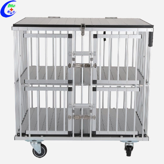 Portable Trolley Dog Show Aluminum Cage