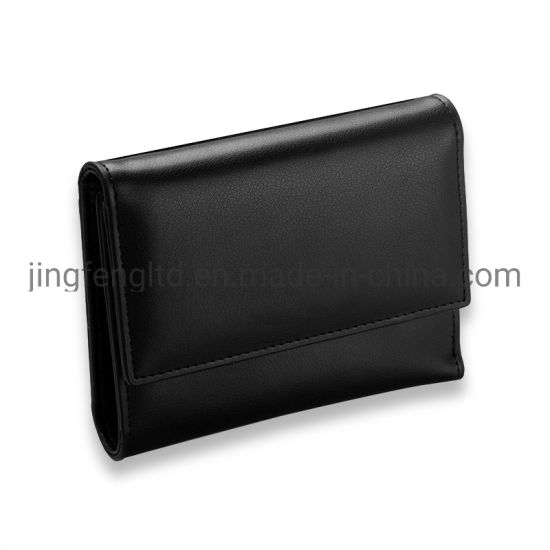 RFID Blocking Trifold PU Leather Lady Wallet with ID Window pictures & photos