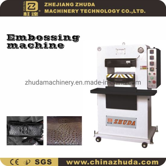 ZHUDA Small 80t Manual Hydraulic Embossing Machine For Leather