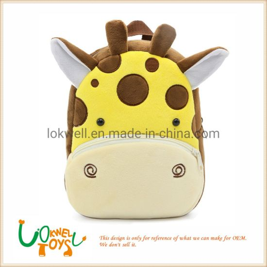 a2a036b57f Stuffed Animals Kids Child Schoolbag Plush Pokemon Cartoon Batman Giraffe  Backpacks