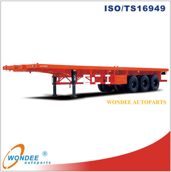 3-Axle 40 Feet Flatbed Semi Trailer From China Manufacturer