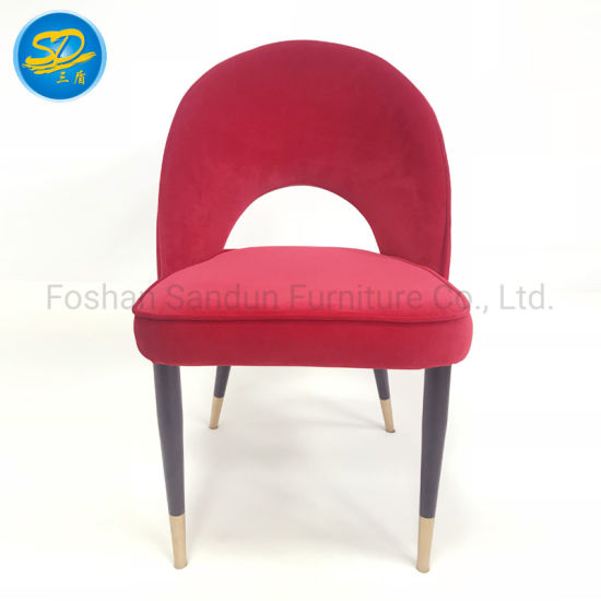 High Quality Britain Standard Flannel Leisure Restaurant Dining Chair for Wholesale