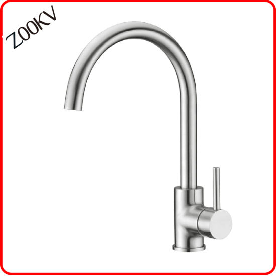 304 Stainless Steel Kitchen Sink Faucet Hand Cold and Hot Water Mixer Tap Factory