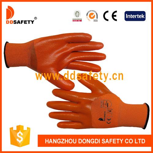 3/4 Orange PVC Coated Safety Gloves