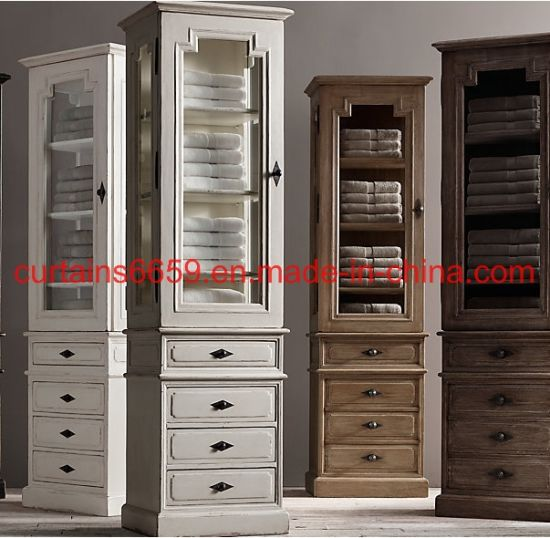 Wooden Bookcase Simple Dining Side Cabinet Bathroom Side Cabinet Cabinet /Sofa /Table /Chair Home Outdoor Vintage Modern Hotel Furniture