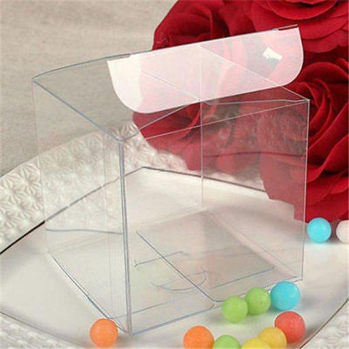 Custom Foldable Transparent Plastic Chocolate Packaging Box