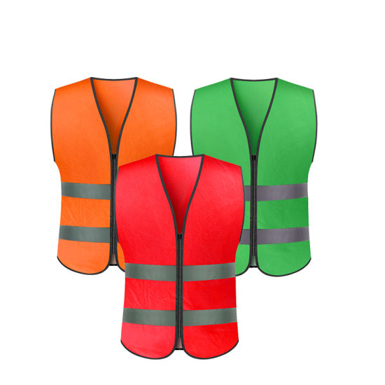 100% Polyester Tricot High Visibility Safety Vest Reflective Vests