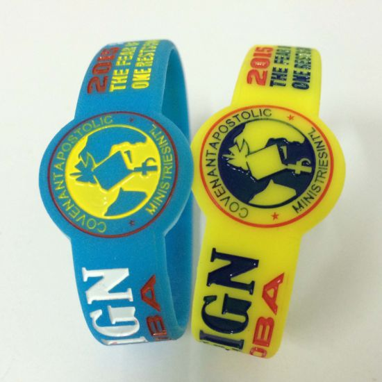 Eco- Friendly Rubber Wrist Baller ID Band Wide Hot Selling Custom Bracelet  Silicon Wristband