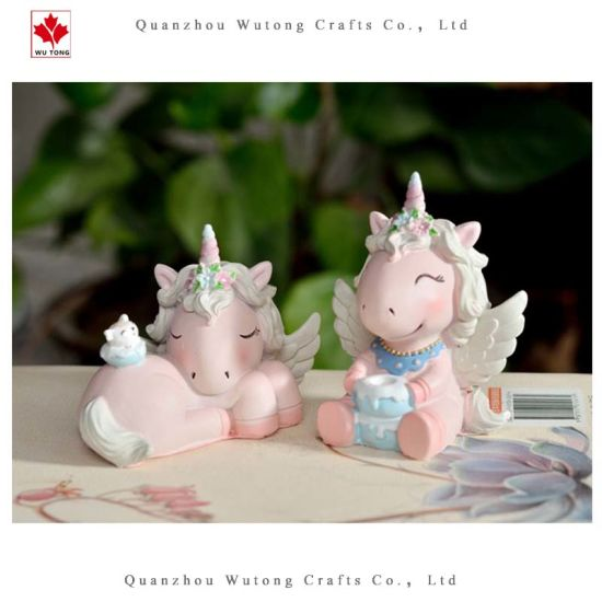 Promotional Resin Cute Pink Unicorn Animal Home Decor Gifts