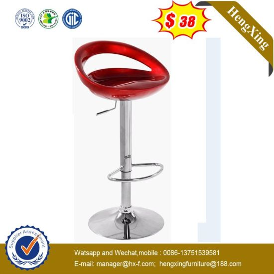 Newly Hospital Hotel School Furniture Red Color Swivel Leisure Bar Stool pictures & photos