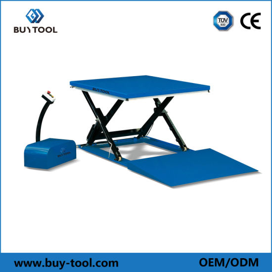 Scissor Lifting Platform Low Profile Hydraulic Electric Lift/Lifting Table