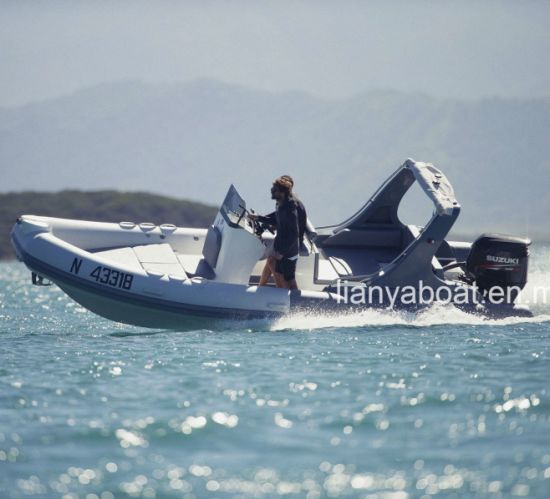 Liya 22ft Inflatable Rubber Boat Hypalon Rib Boat with Motor