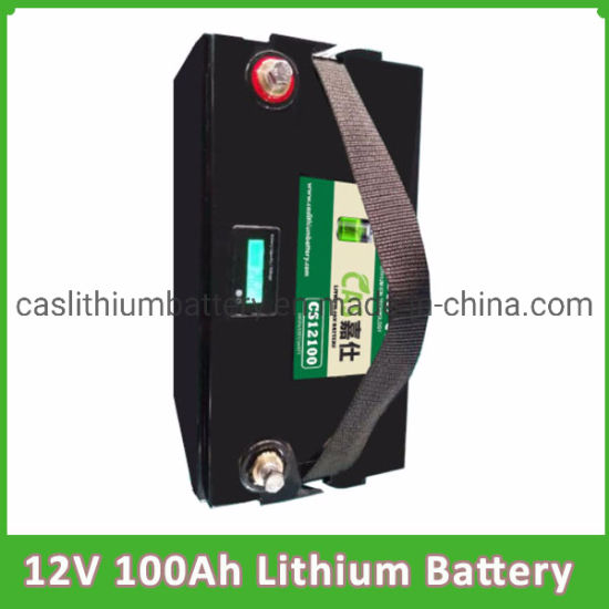 Lithium Battery 12V 100ah LiFePO4 Battery with LED Display pictures & photos