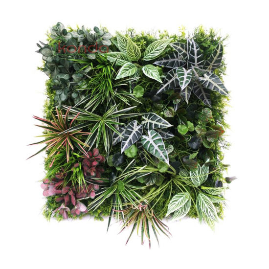 Garden Home UV Protected Plastic Plant Grass Wall Backdrop Panel Artificial Hedge Fence Green Plant Grass Wall