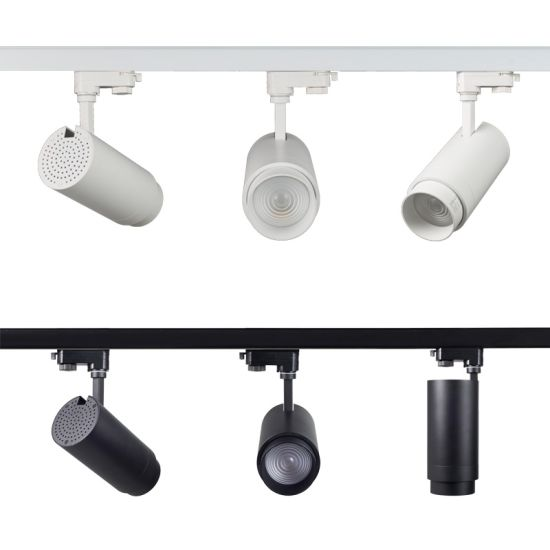 Zoomable Ceiling Commercial Adjustable CREE COB LED Track Lighting