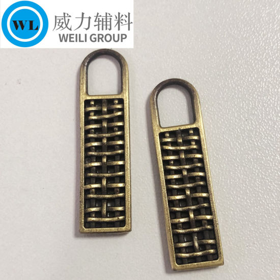 Wholesale Fashion Colorful Metal Zipper Puller with Various Style for Garment/ Bag Accessories