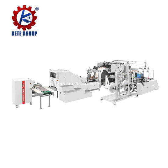 Fully Automatic High Speed Grocery Square Bottom Making Paper Shopping Bag Machine