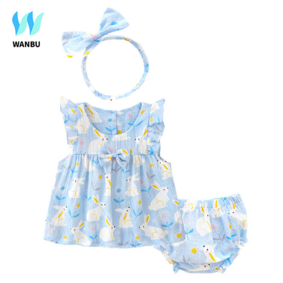 Clothing Set Baby Girl Summer Dress Sleeveless Baby Girl Clothes