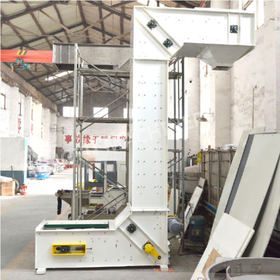 Customized Quartz Sand Lifting Z Type Bucket Conveyor Elevator