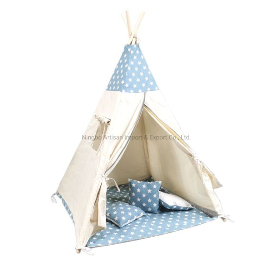 China Factory Kids Play House Canvas Teepee Indian Tent pictures & photos
