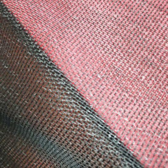 Black Industrial Grid Gauze Scrim Osnaburg for PVC Laminate Materials