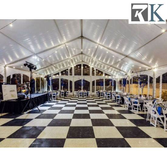 Portable Black and White Wooden Dancing Floor Backyard Wedding Dance Floors