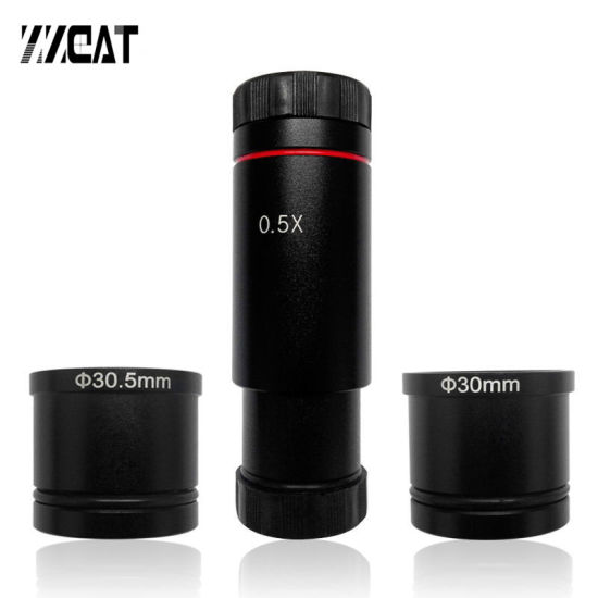 1X Microscope C-mount Adapter for CMOS CCD Camera Digital Eyepiece Relay Lens