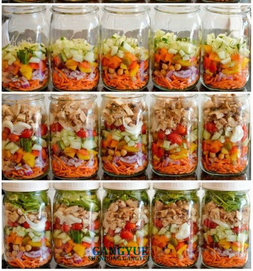 Carving Glass Jars Glass Bottles for Packing Honey Jam Salad Canned Fruit Vegetables