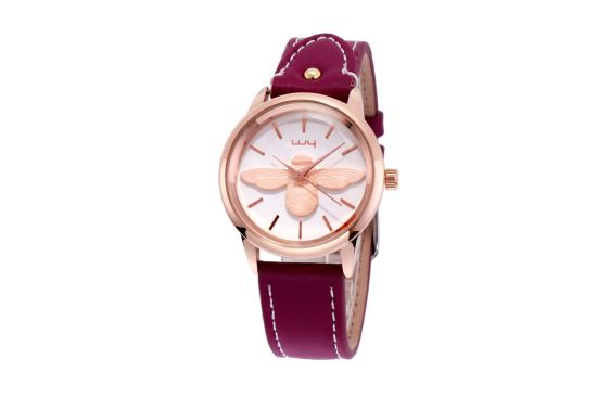 ODM Fashion Leather Strap Quartz Ladies Wrist Watch Wy-166