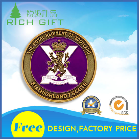 Free Sample Custom Metal Antique Navy Blank Souvenir Security Spinner Religious Dragon Military Armor of God Nypd Bitcoin Sublimation 3D Gold Challenge Coin