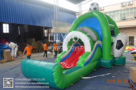 China Inflatable Soccer Bouncy House Inflatable Football Jumping