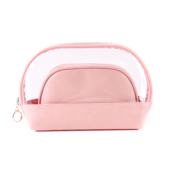 Travel Cosmetic PVC Makeup Toiletry Bag Sets with Zipper Pouch