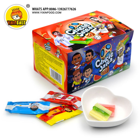 Football Star Fruit Jelly with Bubble Gum