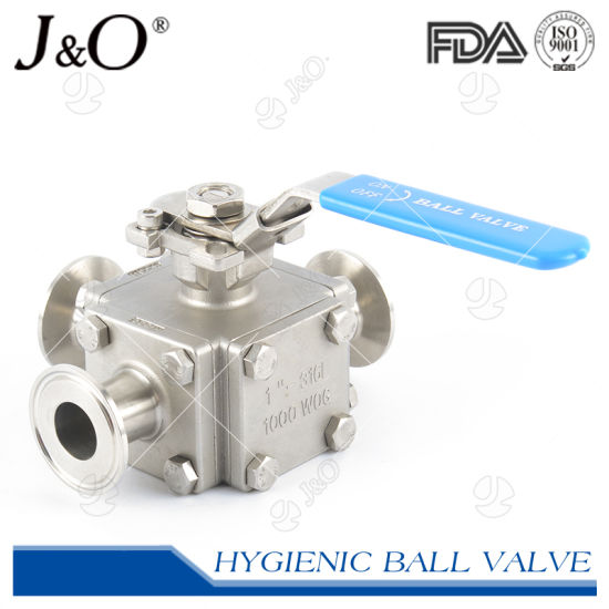 Stainless Steel Food Grade Encapsulated Tri-Clover 3 Way Ball Valve
